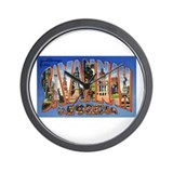 Savannah Georgia Greetings Wall Clock