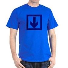 ITS DOWN HERE! DK BLUE ARROW T-Shirt