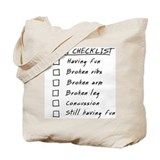 Horse Rider Checklist Tote Bag