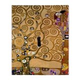 Klimt tree life Fleece Blankets