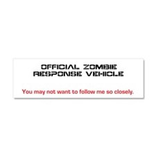 Zombie Sticker Car Magnet 10 x 3