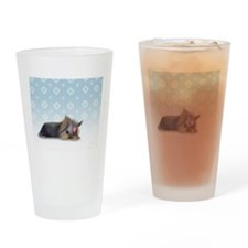 ByCatiaCho Yorkie L.Thinker Drinking Glass