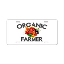 ORGANIC FARMER Aluminum License Plate