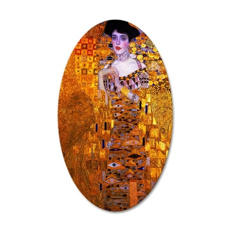 Klimt: Adele Bloch-Bauer I. 35x21 Oval Wall Decal