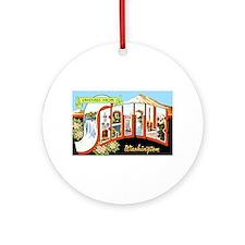 Seattle Washington Greetings Ornament (Round)