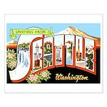 Seattle Washington Greetings Small Poster
