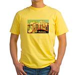Seattle Washington Greetings Yellow T-Shirt