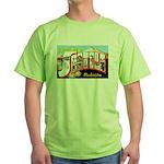 Seattle Washington Greetings Green T-Shirt