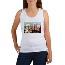 Seattle Washington Greetings Women's Tank Top