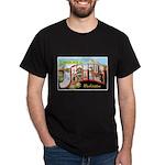 Seattle Washington Greetings (Front) Dark T-Shirt