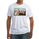 Seattle Washington Greetings (Front) Fitted T-Shir
