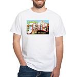 Seattle Washington Greetings (Front) White T-Shirt