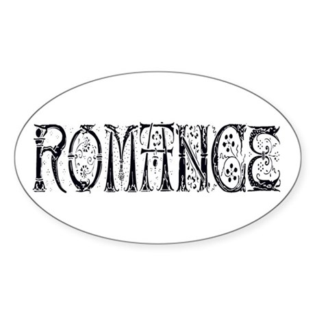 Romance Oval Sticker