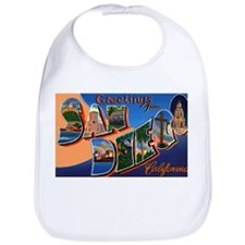 San Diego California Greetings Bib