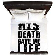 HisDeathGaveLife copy King Duvet