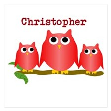 Red Owls Customize Invitations