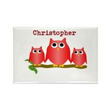 Red Owls Customize Rectangle Magnet (10 pack)