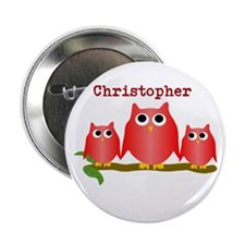 "Red Owls Customize 2.25"" Button"