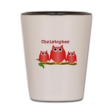 Red Owls Customize Shot Glass