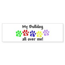 Bulldog Walks Bumper Bumper Sticker