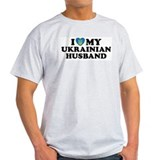 I Love My Ukrainian Husband Ash Grey T-Shirt