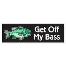 Stop Looking At My Bass Bumper Bumper Sticker