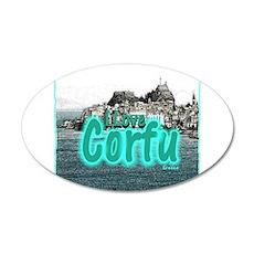 I Love Corfu Wall Sticker