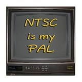 NTSC is my PAL Tile Coaster