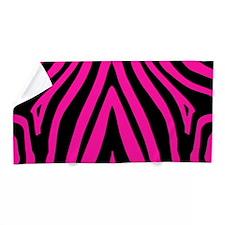 Pink Zebra Beach Towel