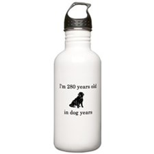 40 birthday dog years black lab Water Bottle