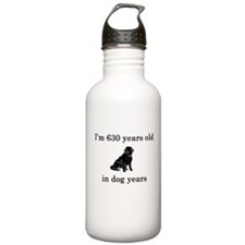 90 birthday dog years lab Water Bottle