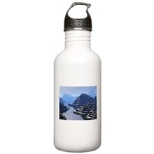Mysterious Terraced Mountains Water Bottle
