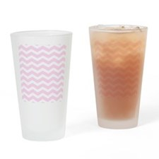 Pink chevron Drinking Glass
