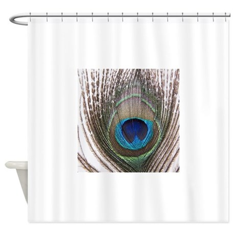 Beautiful Peacock Feather Shower Curtain By Admin Cp931769