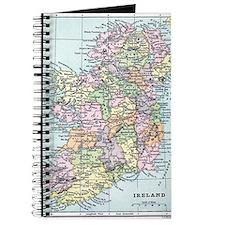 Vintage map of Ireland Journal