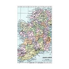 Vintage map of Ireland Decal