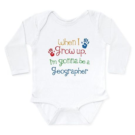 Future Geographer Long Sleeve Infant Bodysuit