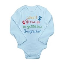Future Geographer Long Sleeve Infant Bodysuit