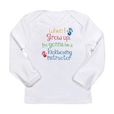 Future Kickboxing instructor Long Sleeve Infant T-
