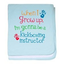 Future Kickboxing instructor baby blanket