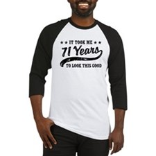 Funny 71st Birthday Baseball Jersey
