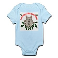 White German Shepherd Infant Bodysuit
