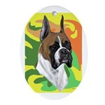 BOXERS Oval Ornament