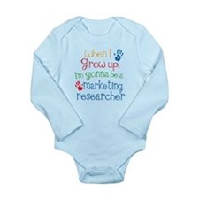 Future Market Researcher Long Sleeve Infant Bodysu