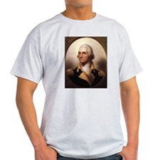 Washington Portrait Ash Grey T-Shirt