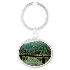 Harpers Ferry Bridge Oval Keychain