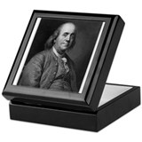 Unique Ben franklin Keepsake Box