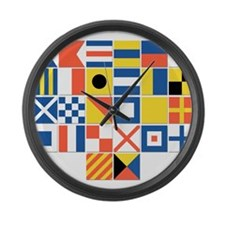 Nautical Flags Large Wall Clock