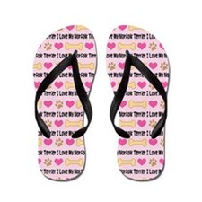 I Love My Norfolk Terrier Flip Flops