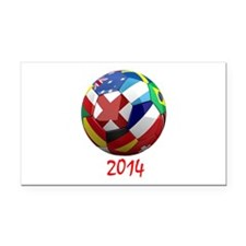 2014 Soccerball.png Rectangle Car Magnet